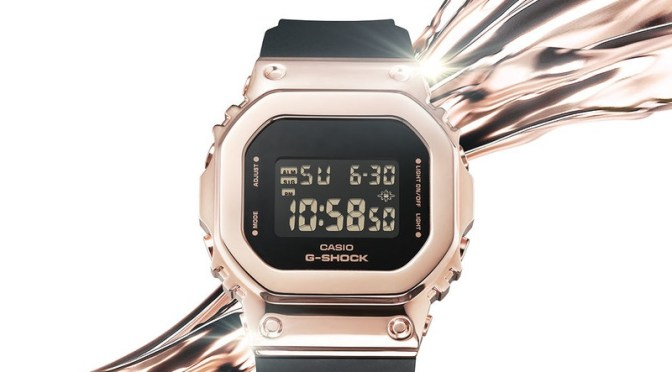 Casio G-Shock for Ladies Features Metal Case, Plus Resin Strap