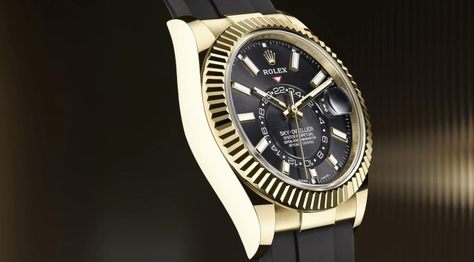Rolex Sky-Dweller: Synthetic Strap, Cal 9001 Movement