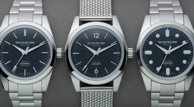 Kickstarter Watches: Ten Eleven Nine Is Minimalist Perfection