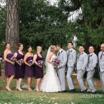 Wedding party on grounds of North Star House