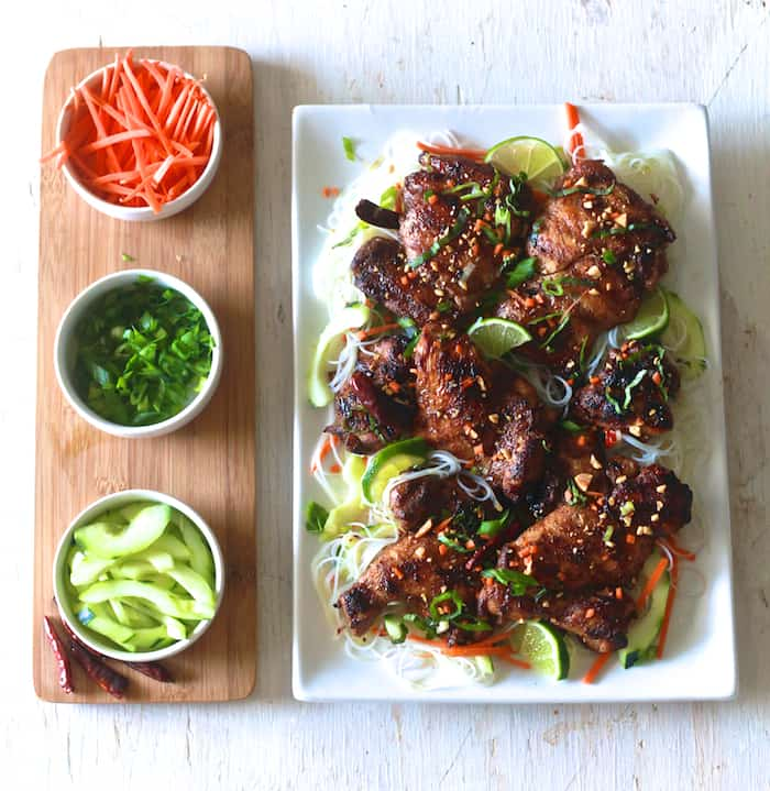 Five Spice Chicken With Vermicelli Noodle Salad The Noshery