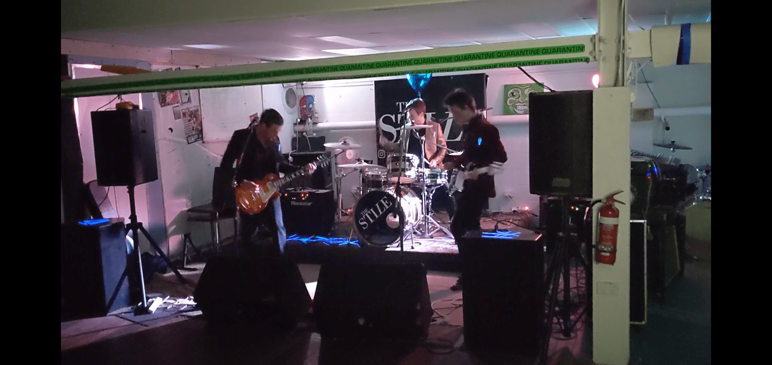 The Stile playing at The Cave Inn -- 26 Nov 2020