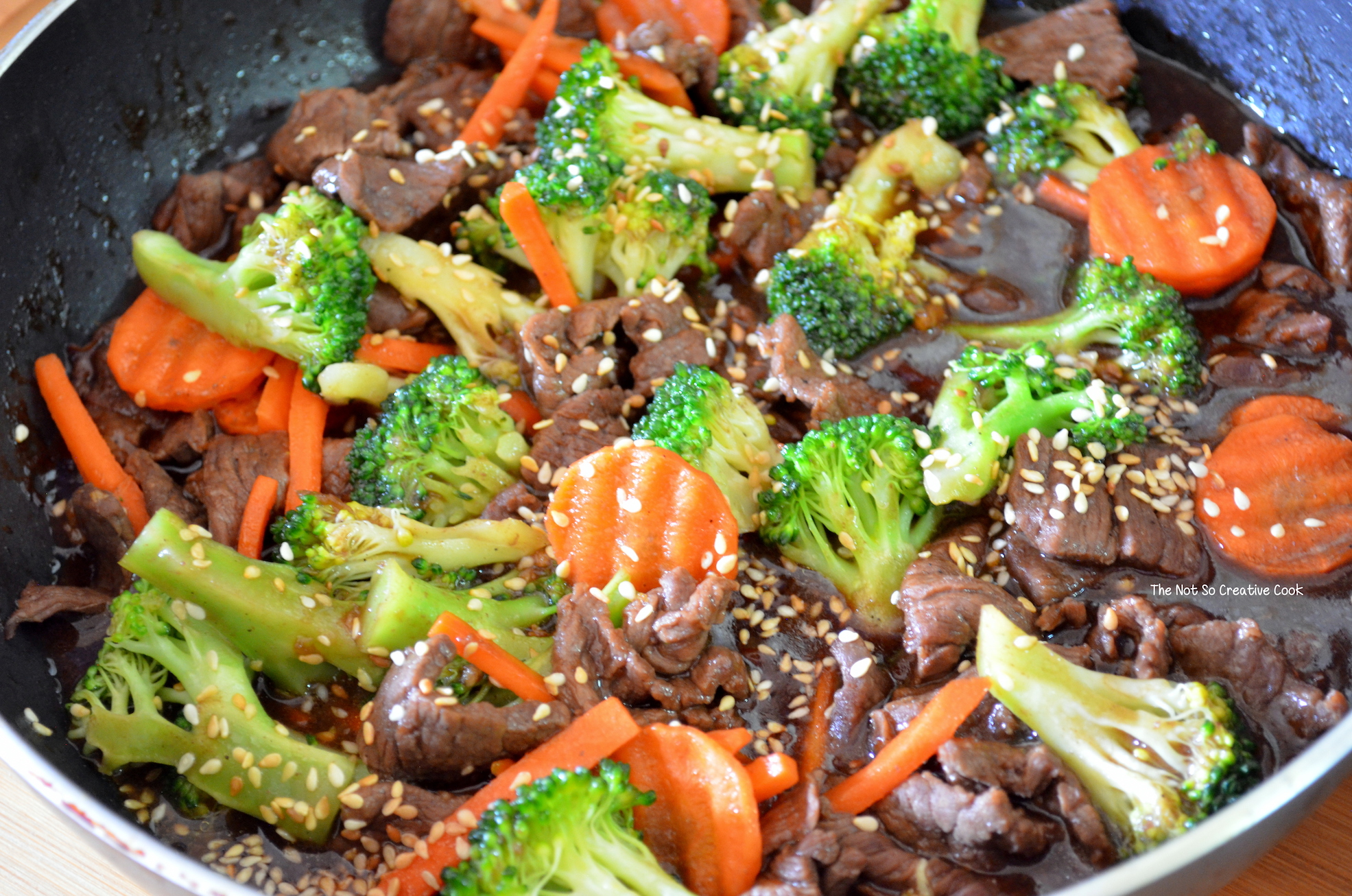 Saucy Beef With Broccoli And Carrots The Not So Creative Cook