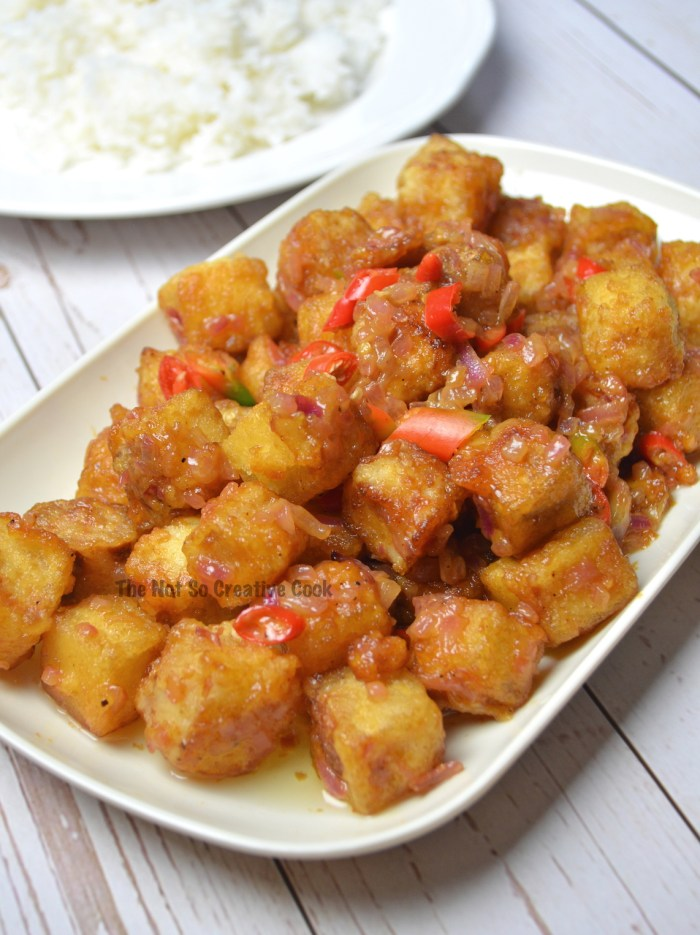 dinner crispy tofu sisig