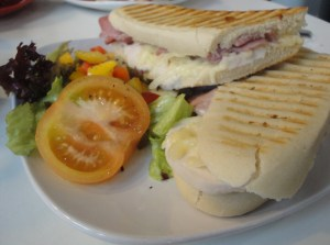 Chicken and Bacon panini