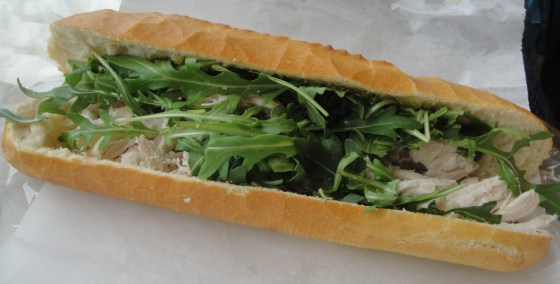 Chicken Pesto Baguette