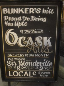 Bunkers Hill Beer Board