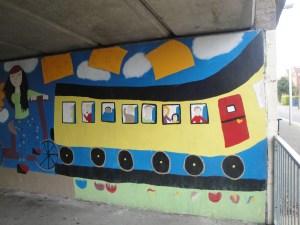 Mural at Beeston Train Station