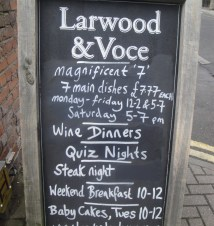 Larwood and Voce Chalkboard