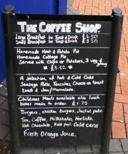 The Coffee Shop Chalkboard