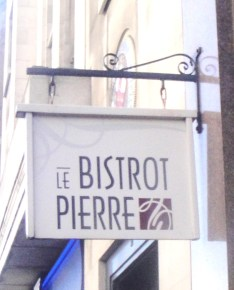 Le Bistro Pierre Sign