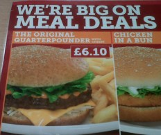 Wimpy Meal Deal Menu