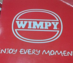 Wimpey Promo Sign