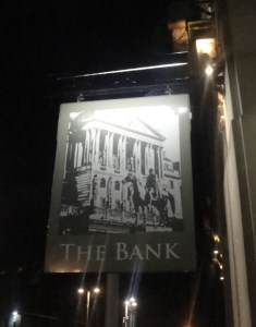 The Bank in Nottingham sign