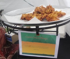 Large Onion Bhaji at Feast