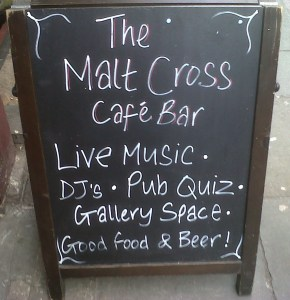 Malt Cross Chalk Board