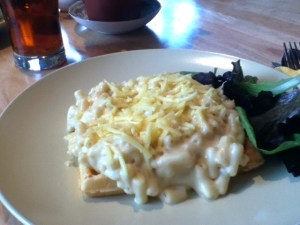 Waffle Cottage with Mac N Cheese