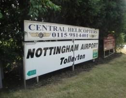 Nottingham Airport Sign