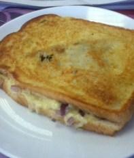 Tosted Lamb samosa sandwich