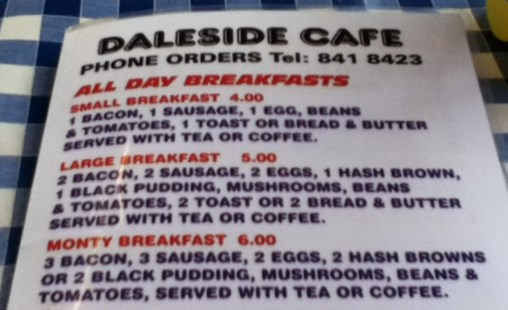 Daleside Menu Options