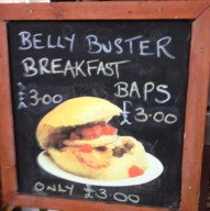 Belly Buster Breakfast Bap Sign