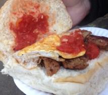 Belly Buster Breakfast Bap
