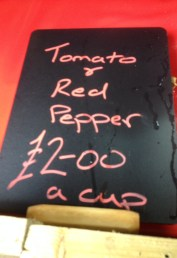 Tomato and Red Pepper Soup Sign
