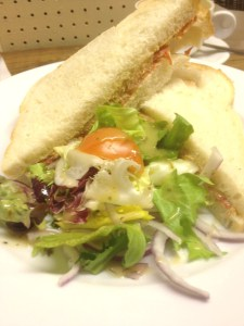 Crab, Lemon Mayo and Chorizo Sandwich
