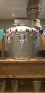 beers on tap from the old barrel