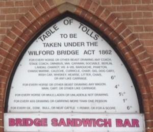 Toll Bridge List
