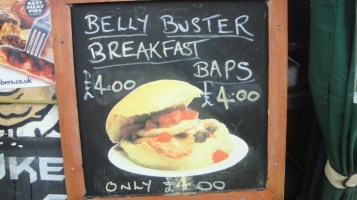 Belly Buster Board at the Jukebox Cafe