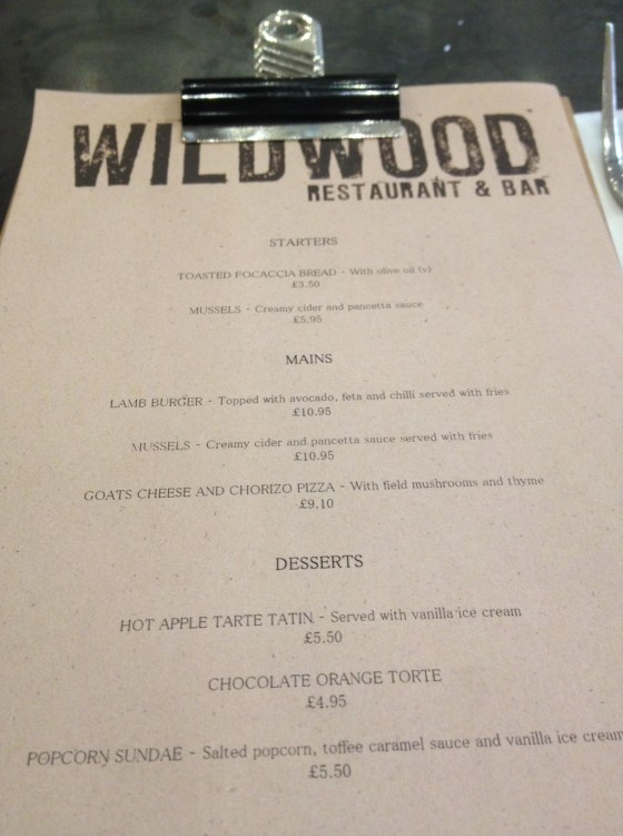 Wildwood Specials Menu