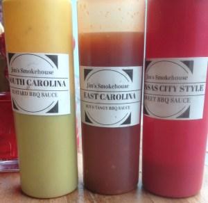 Sauces at Jim's Smokehouse