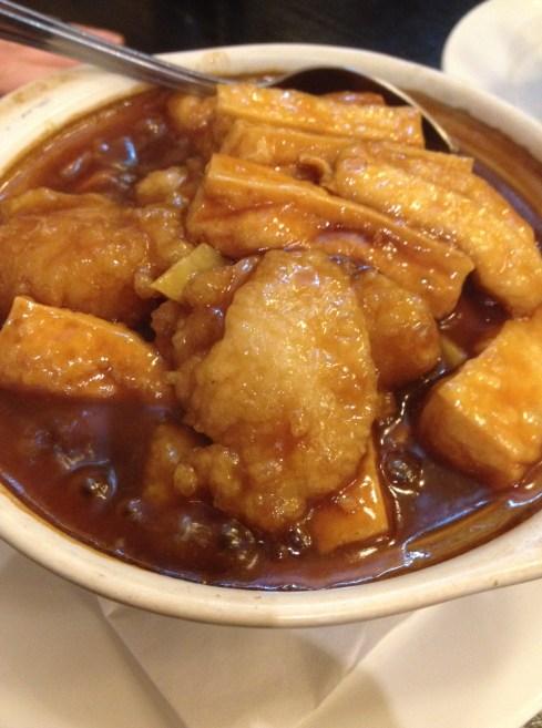 Fried Fish with Deep Fried Braised Tofu