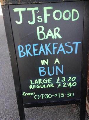 JJ's food Bar Chalkboard