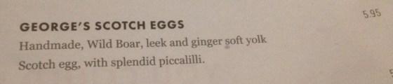 Georges Scotch Egg Menu