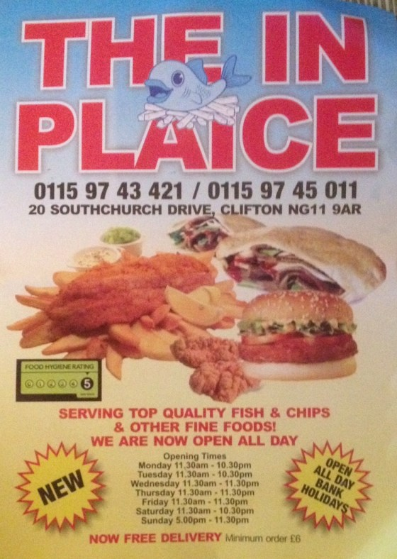 The In Plaice Flyer