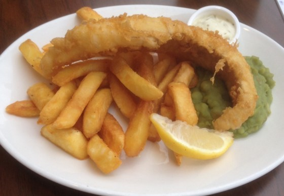 Fish and Chips at The Test Match in Wwest Bridgford