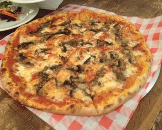 New Mushroom Pizza at Oscar and Rosies