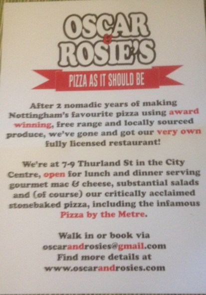 Osacr and Rosies Flyer