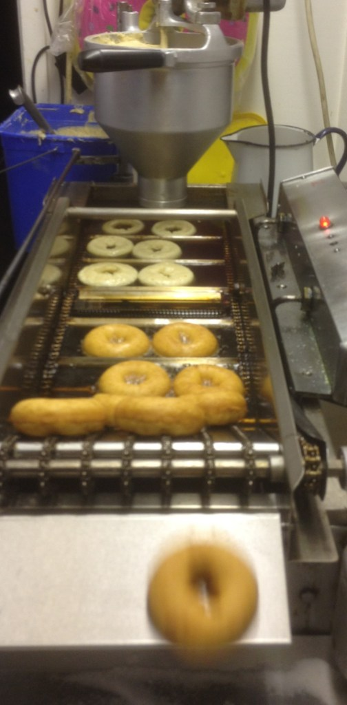 The Donut machine at 7th Scout Group Goose Fair