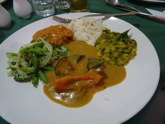 Selection of Vegetable Curries at Cochin Fort