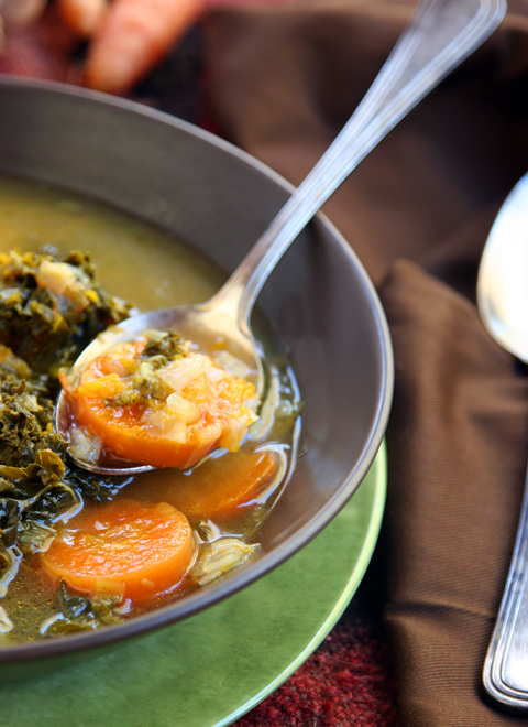 Farmers Market Winter Soup Closeup