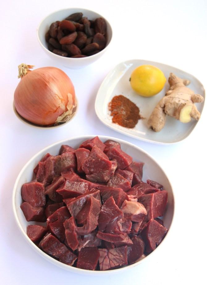 Moroccan Heart Stew Ingredients