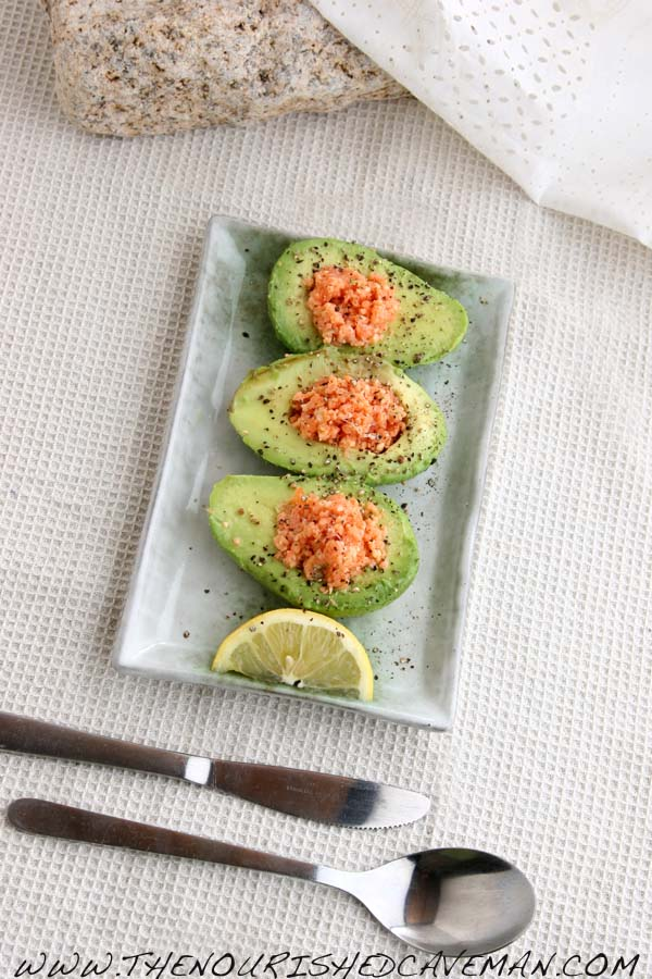 Salmon and Avocado Boats by The Nourished Caveman
