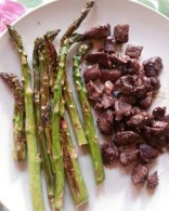 broiled mutton and asparagus!