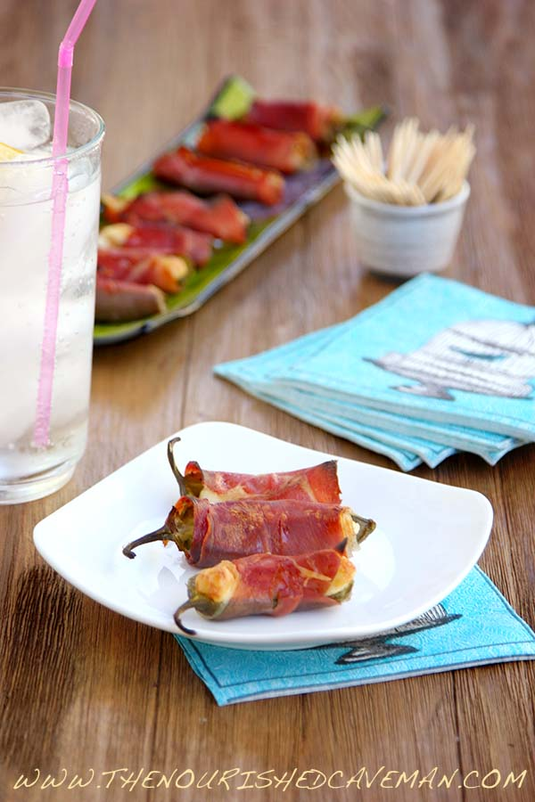 Prosciutto and Brie Jalapeno Poppers By The Nourished Caveman