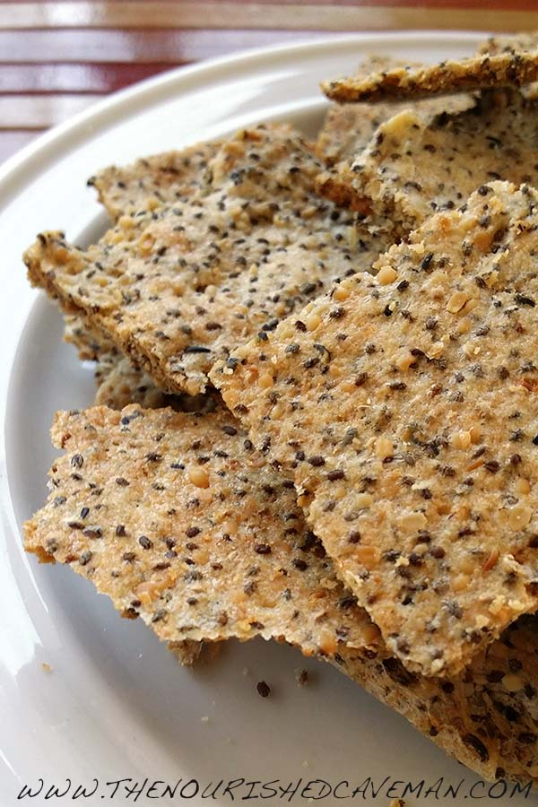 Easy Grain Free Crackers for Keto and Low carb | | The Nourished Caveman