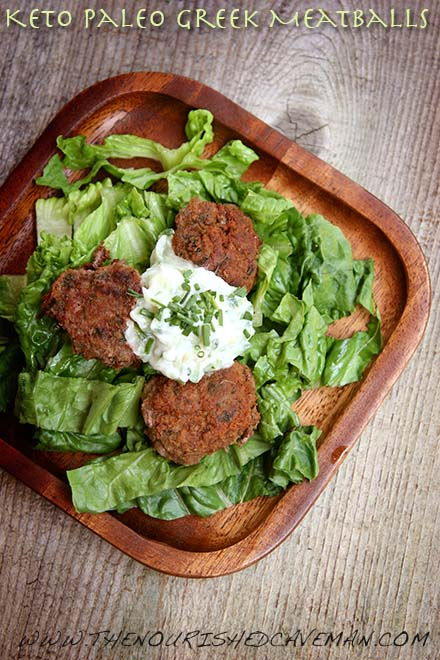 Keto Paleo Greek Meatballs By The Nourished Caveman 2