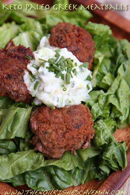 Keto Paleo Greek Meatballs By The Nourished Caveman 3